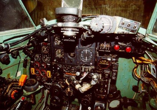 Mosquito bomber cockpit